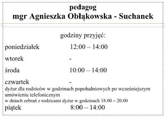 godziny pedagoga